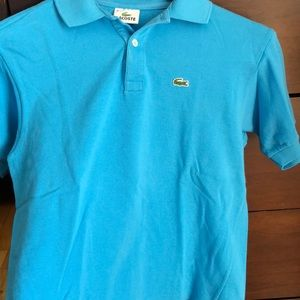 Light baby blue Lacoste polo shirt